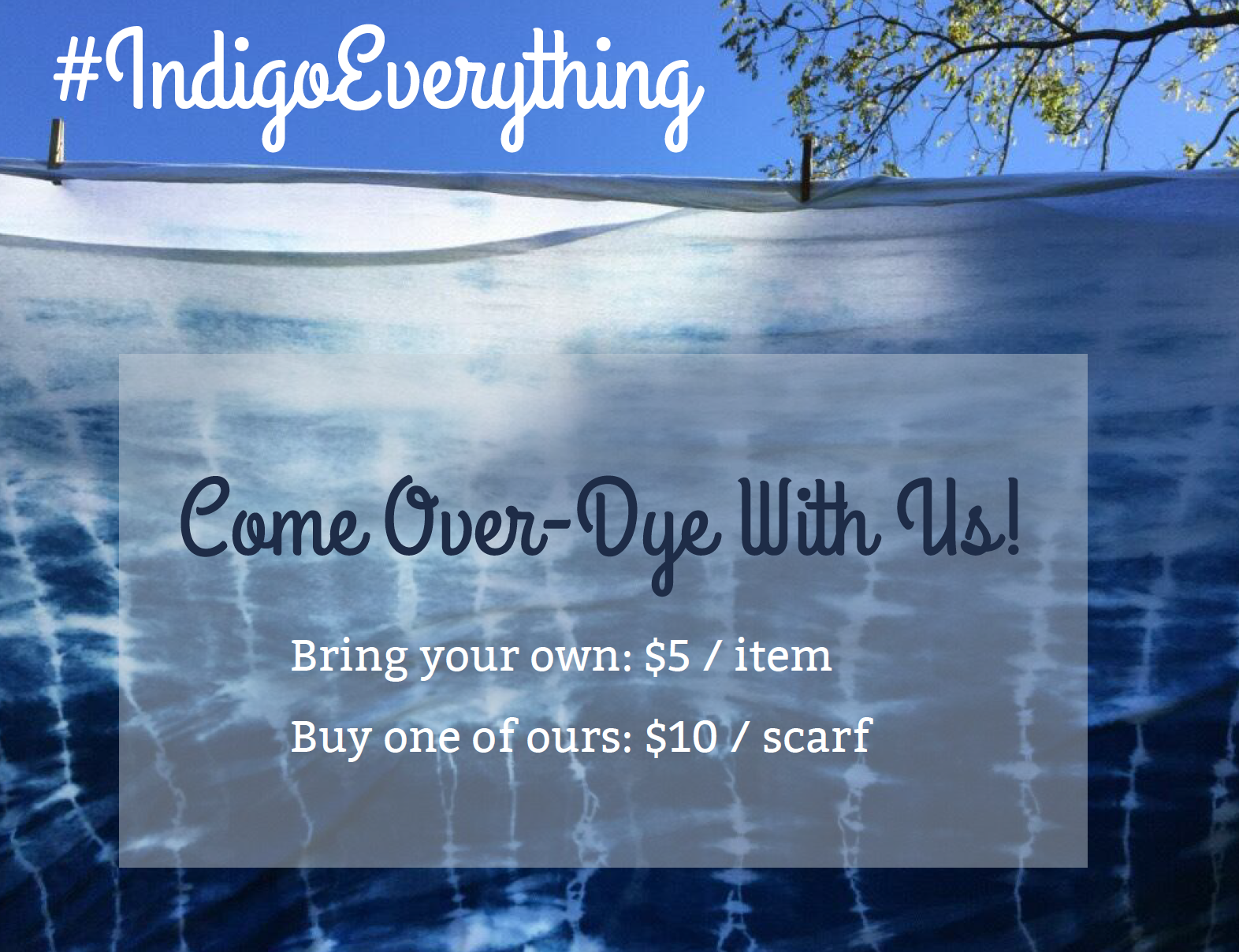 graphic for indigo everything dyeing activity