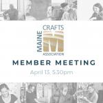 April 13: MCA Member Meeting