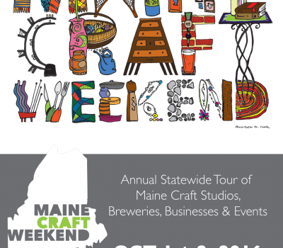 Maine Craft Weekend October 1-2, 2016