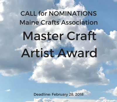 Call for Nominations: 2018 Master Craft Artist Award
