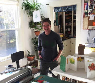 Anna Low/Purplebean Bindery is 2018 MCA New England Made Mentor Booth Artist