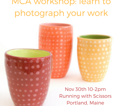 Photography Workshop for Craft Artists November 30th
