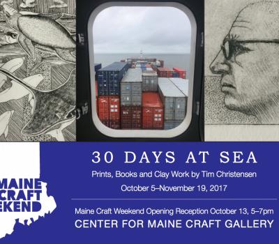 Maine Craft Weekend Opening Reception: Tim Christensen New Work