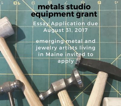 Call for Emerging Jewelers / Metal Artists: Grant of Studio Equipment