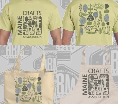 Coming early August: MCA gear! New t-shirts, totes and aprons designed by artist-member Molly Thompson.
